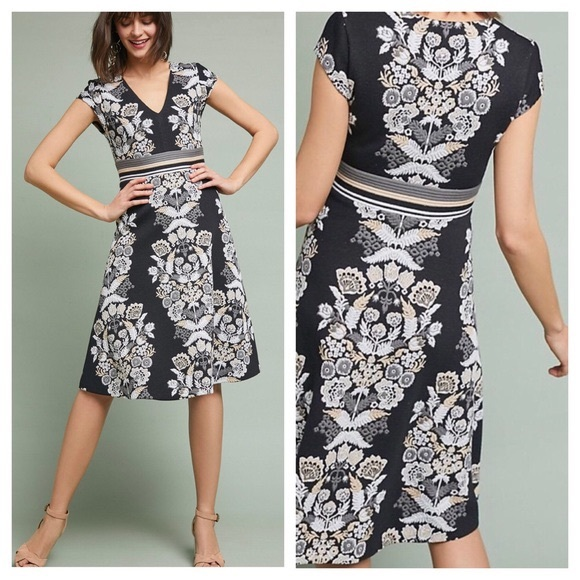 0cfda56eb640 Anthropologie Dresses | Ett Twa Soire Floral Knit Dress 2 | Poshmark